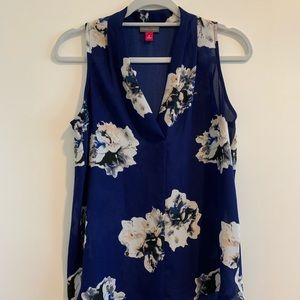 Vince Camuto floral sleeveless top